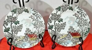 2-Washington-Pottery-Homecroft-Farm-Scene-6-3-4-034-Salad-Plates-Eng-Transferware