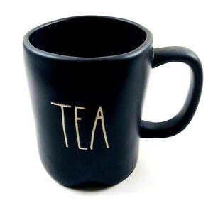 Rae-Dunn-Magenta-Black-Large-Letter-Farmhouse-Artisan-Beverage-TEA-Mug-Cup