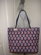 603b96a9d585 item 3 TOMMY HILFIGER Women s LG Tote Shoulder Bag Nautical Anchor Navy  Blue Red Canvas -TOMMY HILFIGER Women s LG Tote Shoulder Bag Nautical Anchor  Navy ...