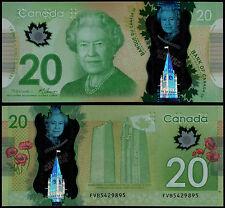 Canadá 20 dólares macklem & Carney (P108) 2012 polímero UNC