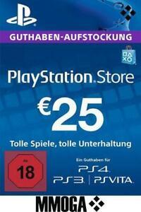 25€ PSN Card Playstation Network Guthaben Code - 25 Euro PS4, PS3, PS Vita - DE