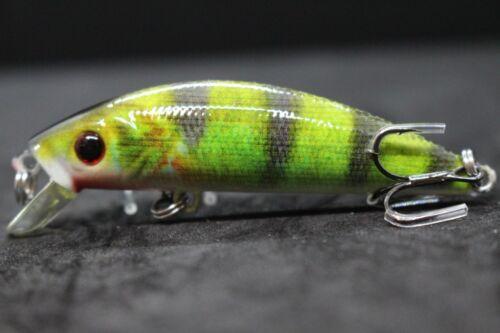Jerkbait Fishing Lures Bait Bass fishing wLure 1//4 oz Tiny Lifelike Minnow HM219