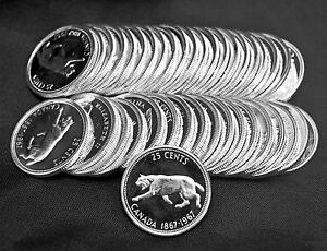 Lot-of-40-1967-Proof-Like-Uncirculated-25-cents