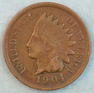 1904 Indian Head Cent Penny Liberty Very Nice Vintage Old Coin Fast S&H 78066