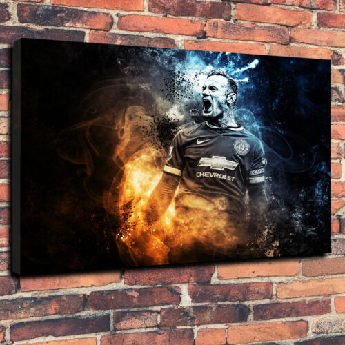 Man United Abstract Boîte Imprimée Toile Photo tailles multiples. Wayne Rooney