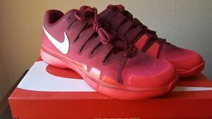 Dettagli su Nike Zoom Vapor 9.5 Red Tour Tennis Shoes Roger Federer 631458 602 Men's Sz 13