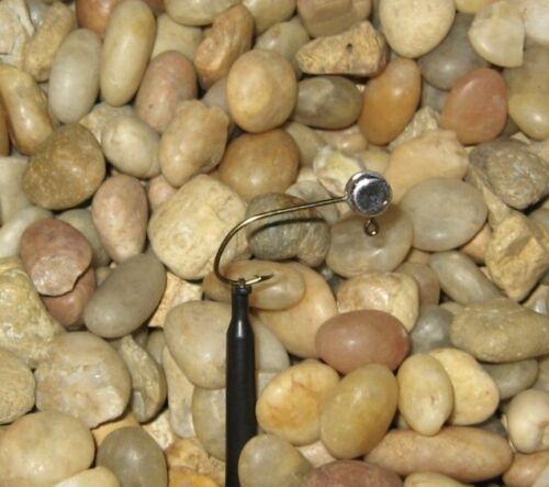 50 Hand made 1//16 no collar crappie pill jig heads w// #4 bronze Mustad sickle