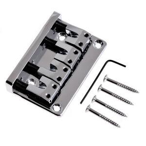 4-String-Bass-Bridge-Guitar-Parts-L-Shape-Saddle-Chrome-Plated-Kmise