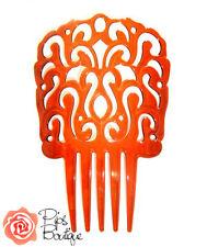New Beautiful Large Traditional Spanish Flamenco Hair Comb Peineta Shell Brown