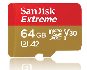 SanDisk Extreme A2 160MB/s 64GB 64G micro SD micro SDXC Memory Card 4K Class10
