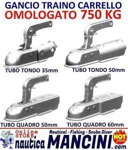 GANCIO TRAINO CARRELLO aggancio appendice rimorchio ATTACCO QUADRO TONDO 750KG