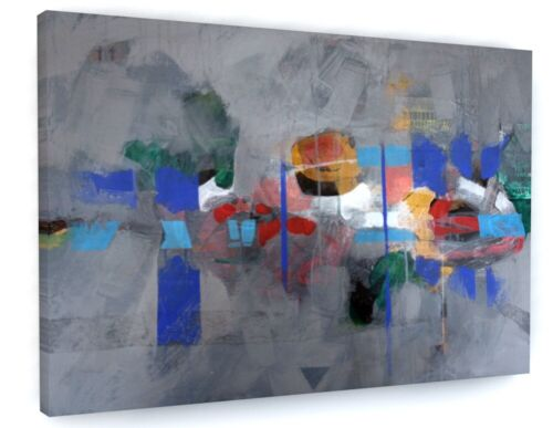 ABSTRACT COLOURFUL CONTEMPORARY CANVAS PICTURE PRINT WALL ART 6938