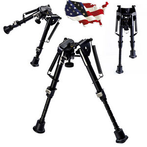 "6"" to 9"" Adjustable Hunting Rifle Bipod Spring Return Sniper Sling Swivel Mount"