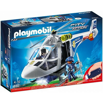 Playmobil City Action 6921 Police Helicopter with Led Searchlight