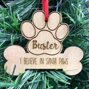 ALBERO-di-Natale-personalizzata-Pet-Dog-Puppy-Bone-decorazione-NATALE-addobbo-bauble