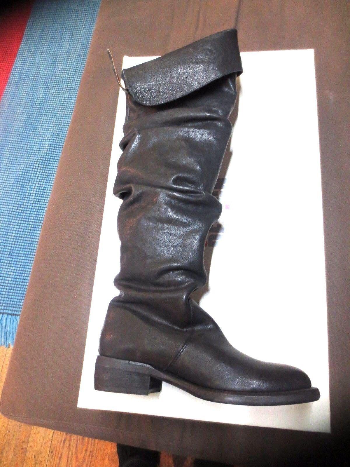 Kniestiefel MINKA Vollleder schwarz neu Wert 199E Schuhgrößen ,37,38, 39