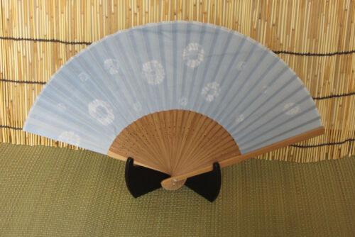 Japanese Shibori Tie Dye Kimono Hand Fan Sensu Fan Cotton /& Bamboo NEW