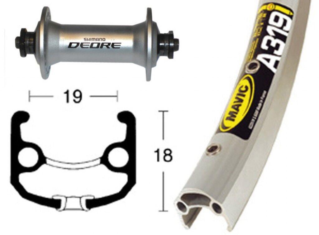 Bike-Parts 28″ Vorderrad Mavic A 319 +  Shimano Deore (QR)  deals sale
