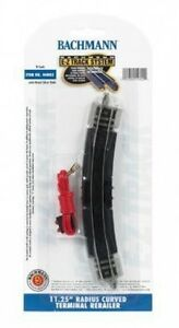Bachmann-N-44802-11-25-034-Radius-Curved-Terminal-Rerailer-E-Z-Track-N-Scale