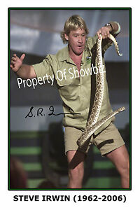 STEVE IRWIN - LARGE AUTOGRAPH SIGNED PHOTO POSTER PRINT - LOOKS GREAT FRAMED