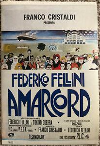 Poster Plakat Aufkleber Sticker 1973 Federico Fellini Amarcord Seien Sie Freundlich Im Gebrauch Filme & Dvds