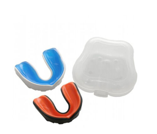 2 Pack Gel Sports Pro Boxing Martial Arts Mouth Guard Football Hockey