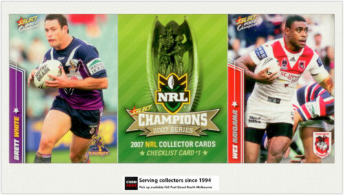 2007 Select NRL Champions Trading Cards Full Base Set 195