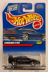 1999-Hotwheels-Ferrari-F40-Preto-muito-Raro-Perfeito-Moc