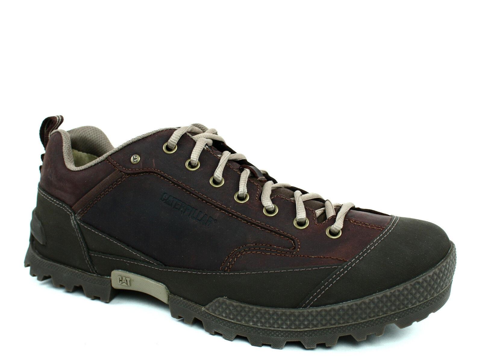 Caterpillar REZNOR Oxford Uomo Work Casual  Brown Pelle/Nubuck Shoes Scarpe da Ginnastica