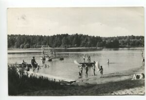 uralte AK Menz Kr. Gransee Badestelle am Roofensee 1970 //09