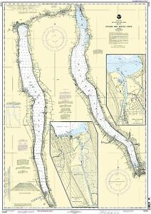 NOAA Chart Cayuga and Seneca Lakes;Watkins Glen;Ithaca 18th Edition 14791