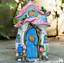 Resin-OPENING-DOOR-FAIRY-HOUSE-garden-ornament-frogs-decoration-Pixie-lover-gift thumbnail 1
