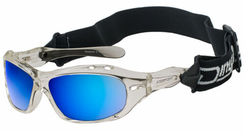 DIRTY DOG CURL II 53113 WET GLASS WATER-SPORTS FLOATING SUNGLASSES CRYSTAL//BLUE