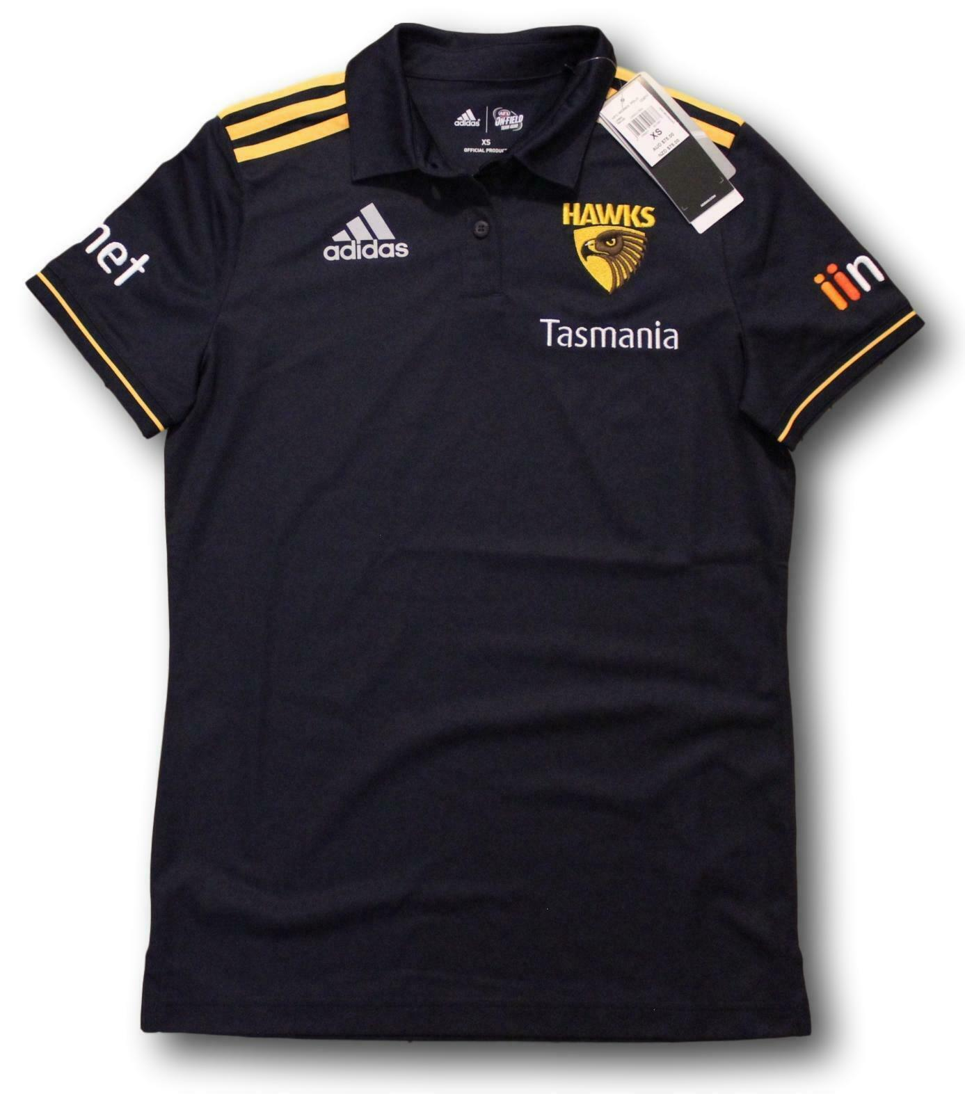 Women s Hawthorn Hawks Adidas Top Shirt New Size XS Only 2018 Polo ... cccc9e809c987