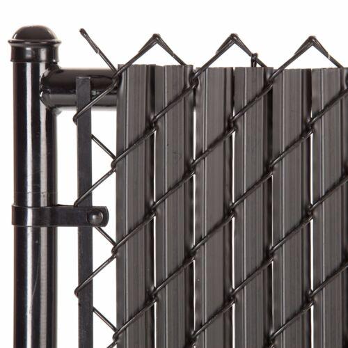 Chain Link Black SoliTube™ Max-Privacy Slat For 8-ft Fence Bottom Lock