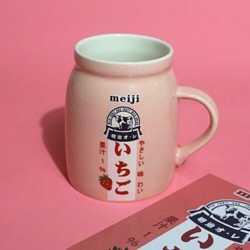 Kawaii Milk Strawberry Cup Ceramic Japanese Mug Cute Tea Coffee Retro Lolita