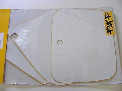 3 stickers fonds de plaque cross BLANC  HONDA  CR 250  1998-1999
