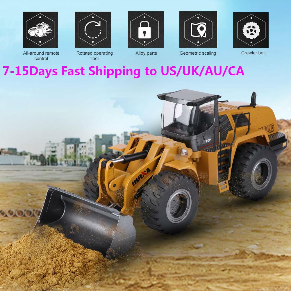 HUINA 583 1 14 Radio Control Excavadora Vehículo de ingeniería Bulldozer Camión K Regalo De Navidad