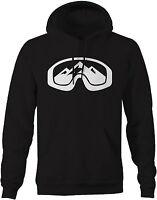 Sweatshirt -ski Goggles With Mountain Snowboarding Skiing Winter Sports