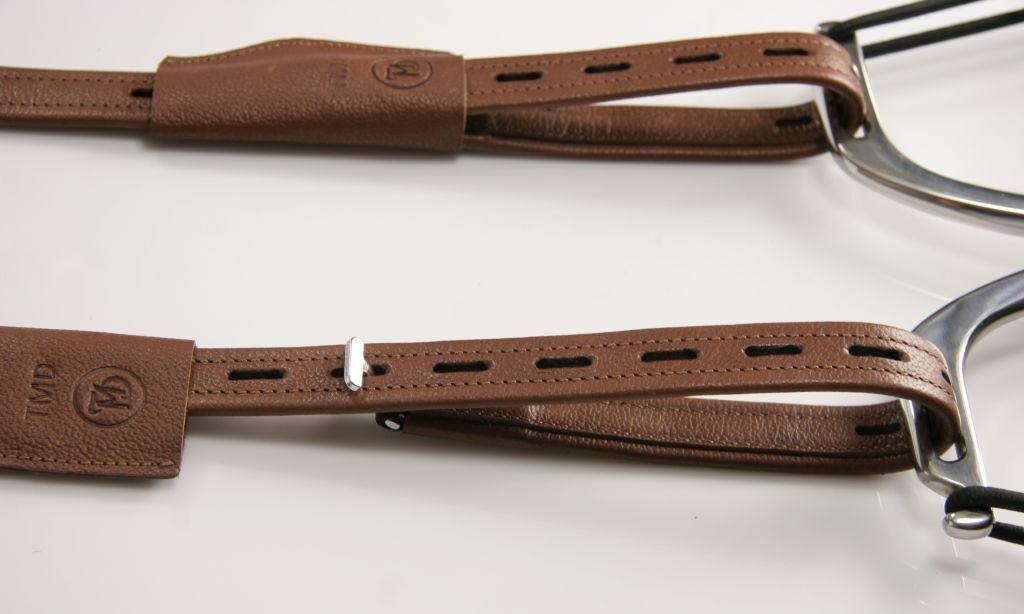80cm DRESSAGE STIRRUP LEATHERS TMD T-bar   non-stretch calfskin TOP  Brown