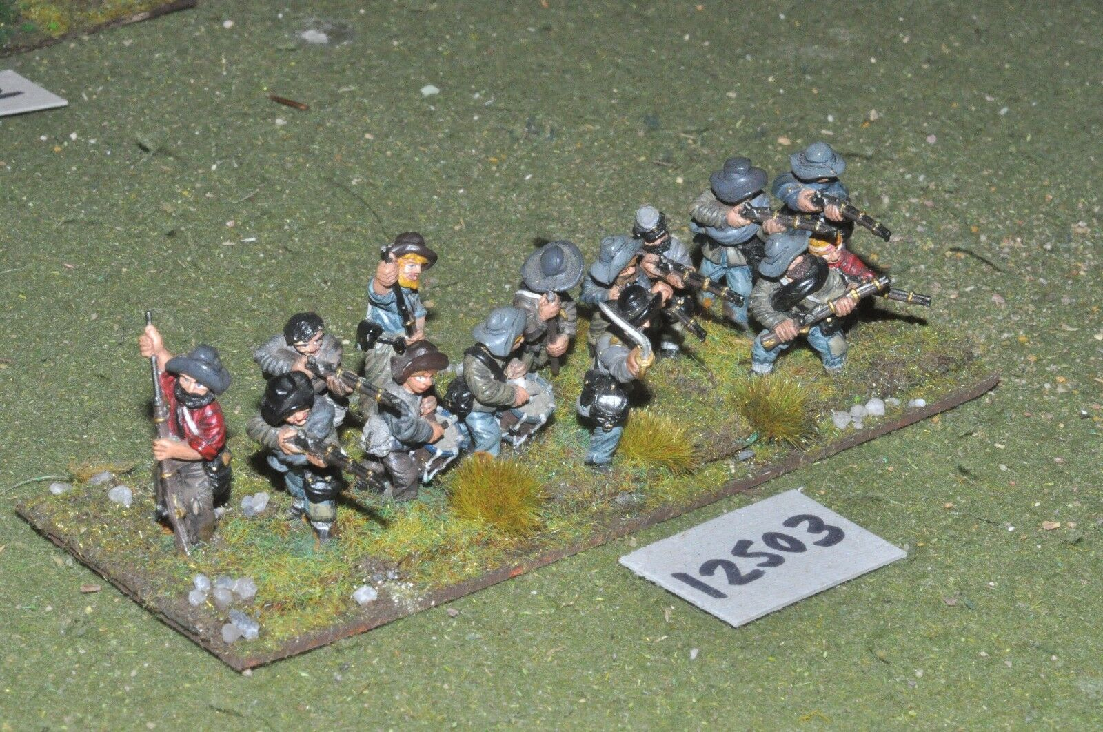 25mm ACW   confederate - american civil war infantry 14 figures - inf (12503)
