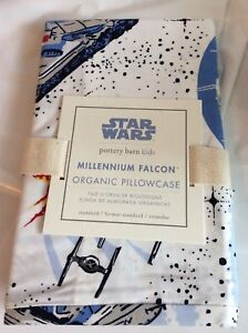 Pottery Barn Organic Star Wars Pillow Case Millennium