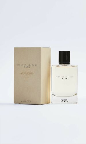 ZARA - VIBRANT LEATHER WARM -100ml EDP - NEW -Mens Aftershave *BNIB