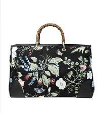 96a1d908253 item 5 NWT Gucci Kris Knight Canvas Floral Bamboo Tote Bag Purse Handbag  Large Flora -NWT Gucci Kris Knight Canvas Floral Bamboo Tote Bag Purse  Handbag ...