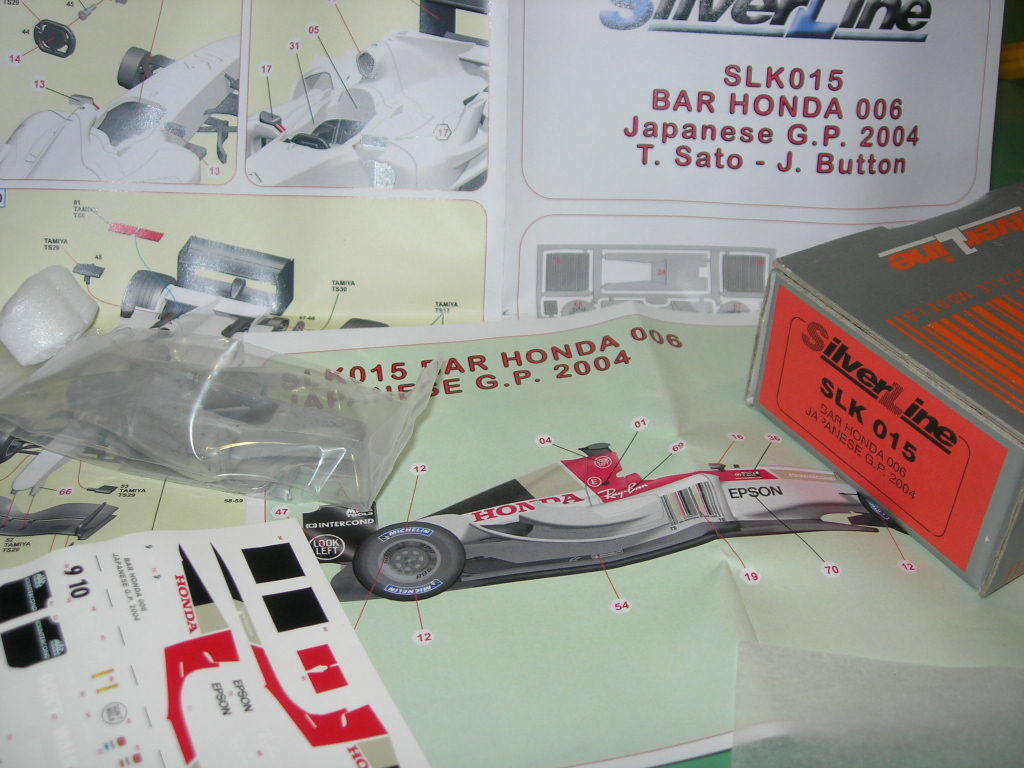 SilverLine Tameo 1:43 KIT SLK 015 Bar Honda 006 Japanese GP 2004 NEW | élégante Et Gracieuse
