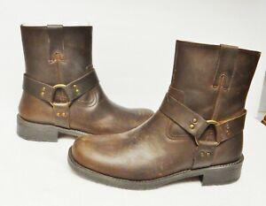Roebuck & Co. Men's Boots Harness Ankle Motorcycle Biker Brown SIZE 11 M  NEW   eBay