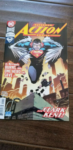 2019 SDCC WONDERCON DC SUPERMAN ACTION COMICS CLARK KENT COMIC BOOK BENDIS 1001