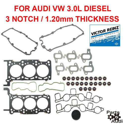 REINZ 3 NOTCH Engine Cylinder Head Gasket Set For Audi VW Diesel 3.0T