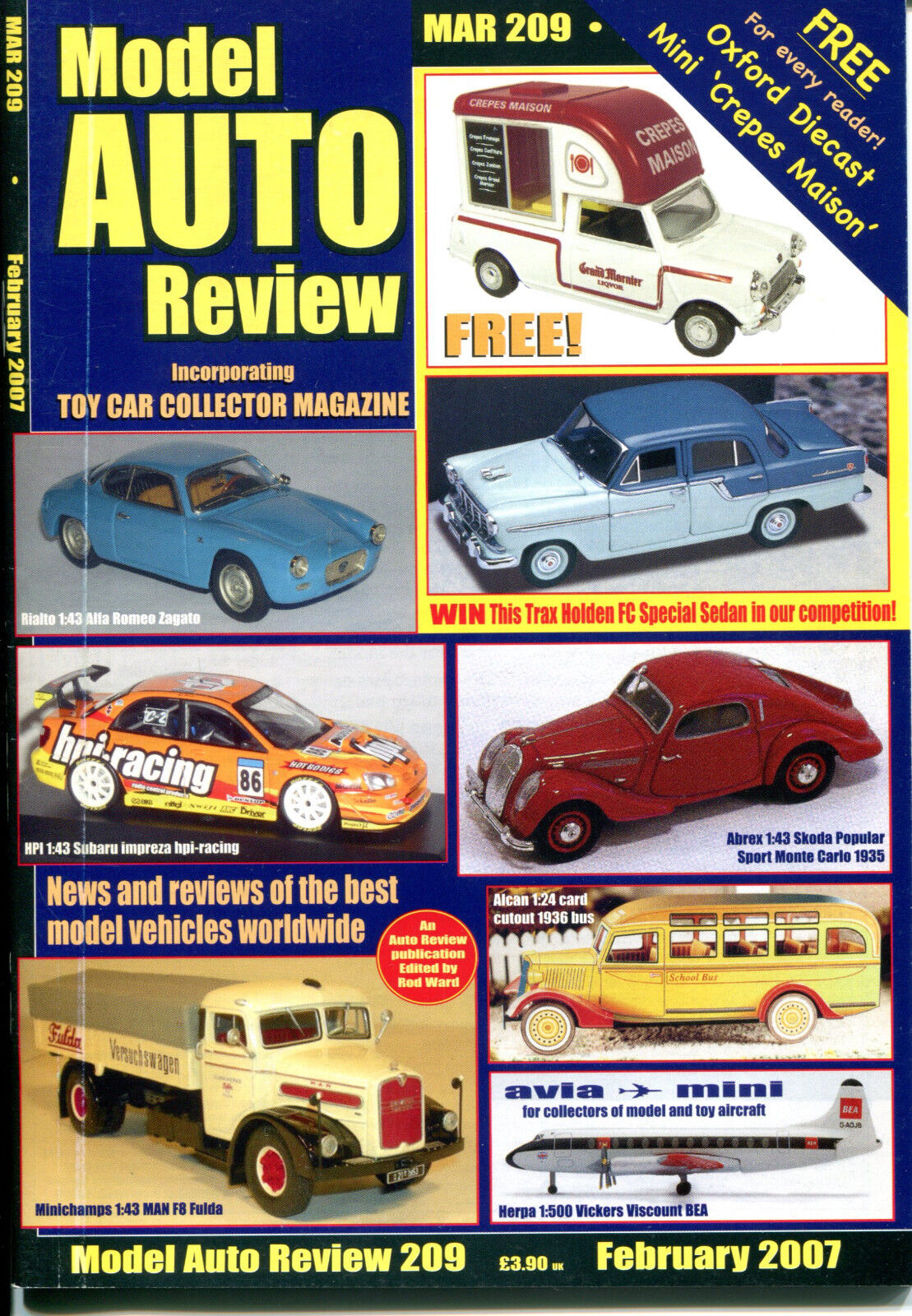 MODEL AUTO REVIEW  MAR  Magazine  2007  Special Bundle Offer - 10 NEW ISSUES