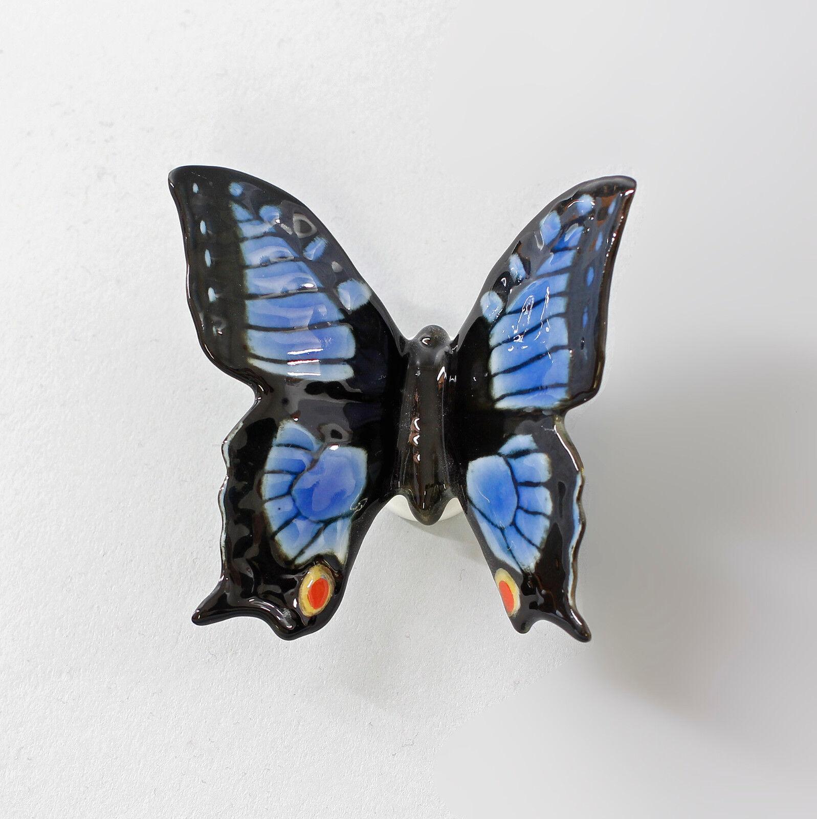 9997521 Porzellan Figur Ens Schmetterling Schmetterling Schmetterling blau B 7 cm H 6,5 cm ba3159